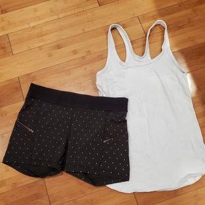 Lululemon shorts and t-shirts size 8